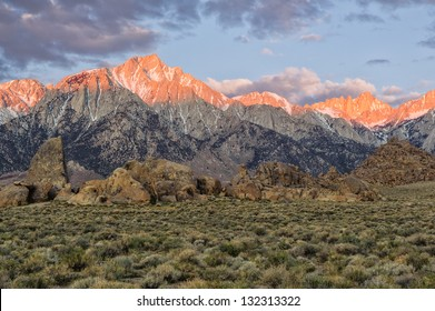 Mount Whitney from the Alabama Hills; Lone Pine, California