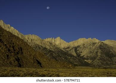 Mount Whitney Moonset