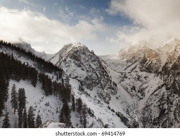 Mount Wister in winter,   wyoming