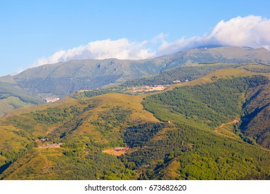 Mount Wutai scene. The Mount Wutai is one of famous Buddhist holy land and tourism destination in China.