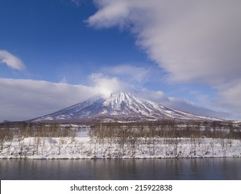 Mount Yotei, an active stratovolcano located in Shikotsu-Toya National Park, Hokkaido, Japan. It is one of the 100 famous mountains in Japan.