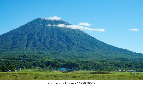 """""""Mount Yotei"""" is one of the famous Japanese mountain located in Hokkaido, Japan. It's a stratovolcano, and sometimes called Ezo Fuji."""