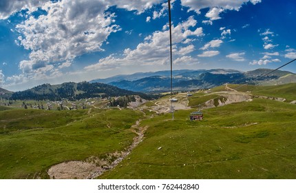 Mountain aerial ropeway in Georgia