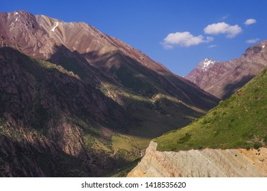 Mountain after the Too-Ashuu Pass, the Osh-Bishkek highway.
