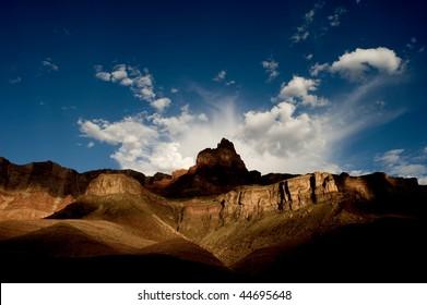 Mountain along the Colorado River in the Grand Canyon