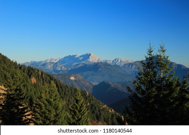A mountain alpine landscape of Kamnik Savinja Alps