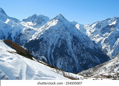Mountain in the Alps, Les Deux Alpes, France