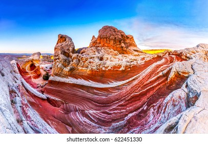 Mountain Arizona sky landscape. Red rock canyon national conservation area panoramic landscape