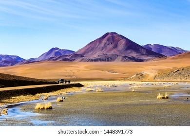 A MOUNTAIN IN THE ATACAMA DESERT IN CHILE, SOUTH AMERICA