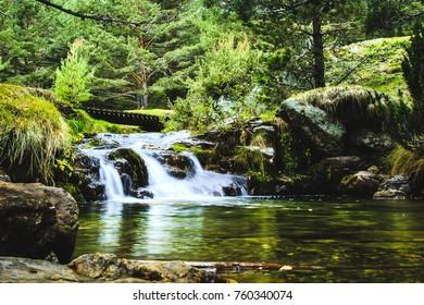 Mountain autumn river