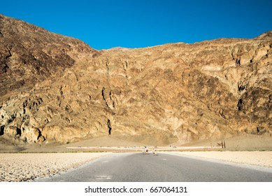Mountain at Badwater Basin in Death Valley National Park