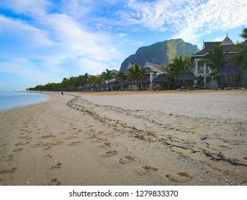 mountain and beach