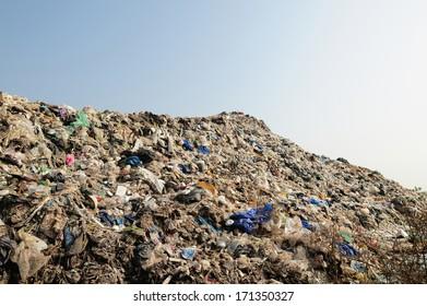 mountain of big garbage