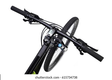 Mountain bike 29er top view isolated