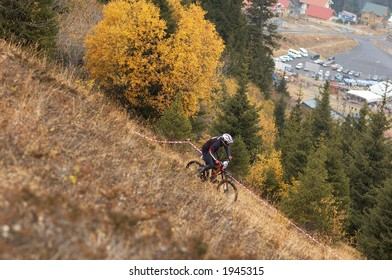 Mountain Bike Downhill on Ski resort