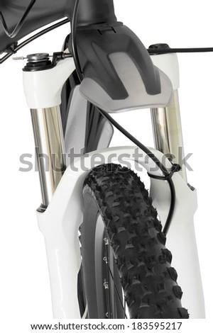 81cbc38297c Mountain Bike Front Wheel Suspension Fork Stock Photo (Edit Now ...