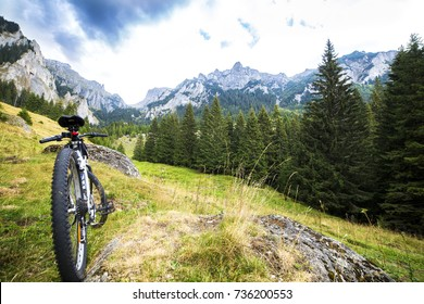 mountain bike in a mountain landscape