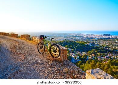 Mountain bike MTB Denia at Montgo track in alicante Spain