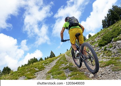 Mountain bike route on top of the summit.