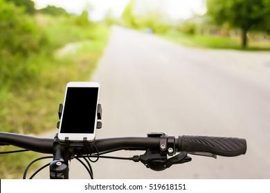 Mountain bike and Smartphone mount  on handlebar