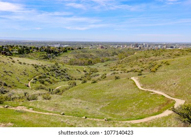 Mountain bike trails in the Boise foothills