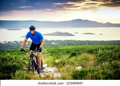 mountain biker riding on Croatia