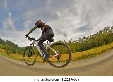 Mountain biking in Benedito Novo Brazil