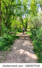 Mountain biking in Boise, Idaho on Cottonwood Creek trail
