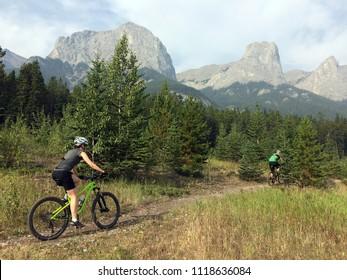 Mountain biking in Canmore, Alberta