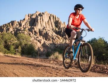Mountain Biking on Beautiful Nature Trail