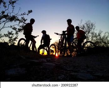 Mountain biking in the Sonoran Desert