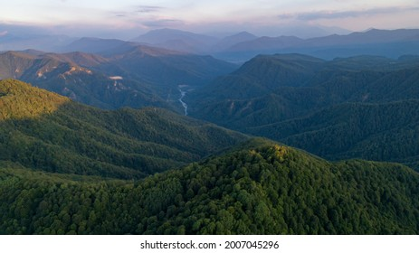 Mountain Biosphere Reserve at sunrise