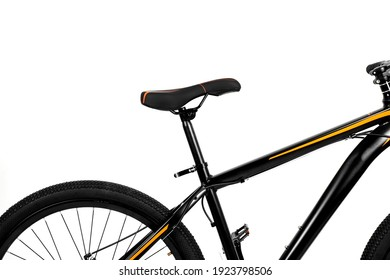 Mountain black bike bicycle isolated white background