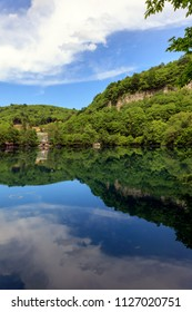 Mountain blue lake. Russian Federation, North Caucasus, Karachay-Cherkessia, Chegem,