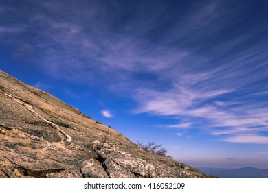 mountain with blue sky