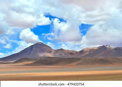 Mountain in Bolivia with sky