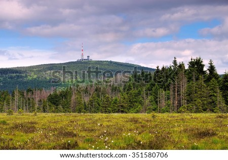 the mountain Brocken in Harz Mountains
