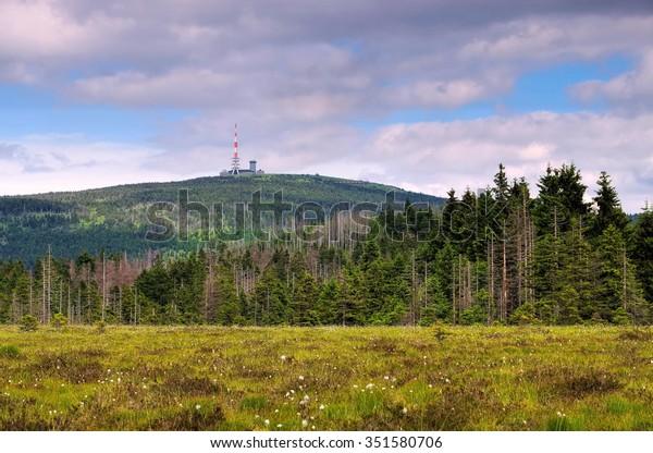 der Berg Brocken im Harz