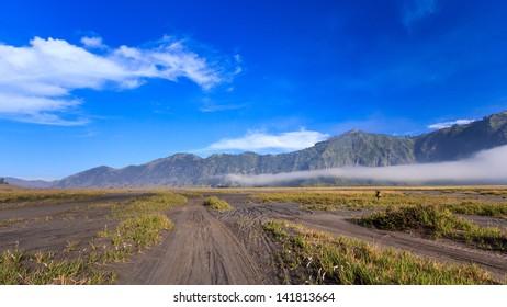 the mountain of bromo volcano