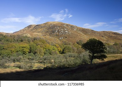 Mountain by Loch Trool in the Galloway Forest Park, Dumfries and Galloway, Scotland, UK.