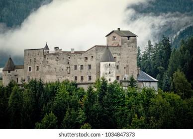 Mountain Castle Nauders Tirol Alps Clouds