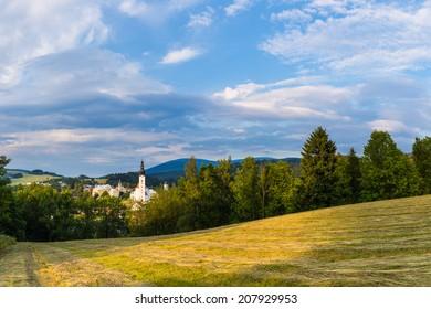 Mountain church scenery, Jeseniky