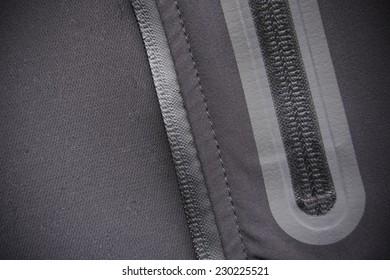 Mountain clothes detail: waterproof zipper