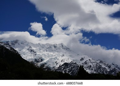mountain with cloud