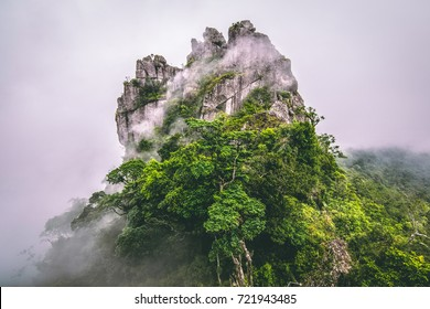 Photo of Mountain in the cloud and fog