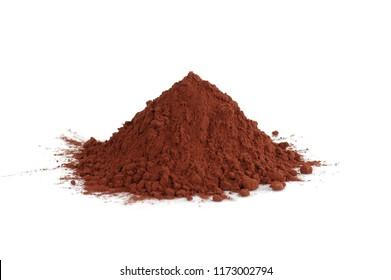 mountain of cocoa powder