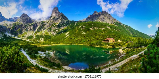 Mountain cottage at the Zelene pleso (Green lake), Slovakia