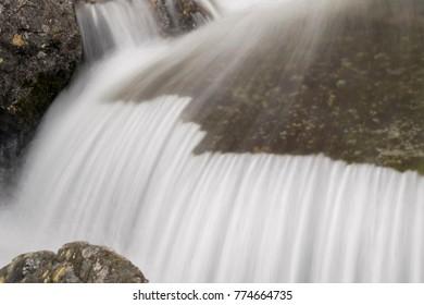 mountain creek waterfall Cumbria Lake district England