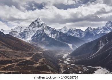 Mountain Am Dablam in Nepal