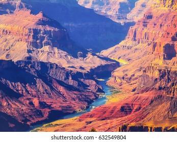 mountain and desert at Grand Canyon national park, USA